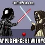 The Force is Strong With This Pug
