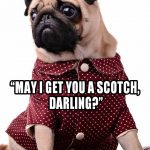 Pug in a Smoking Jacket - Join the Pugs
