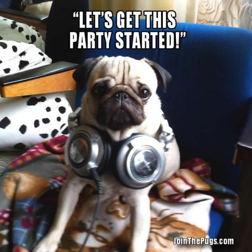 Let's get this party started - Join the Pugs