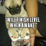 Will finish level when awake - Join the Pugs