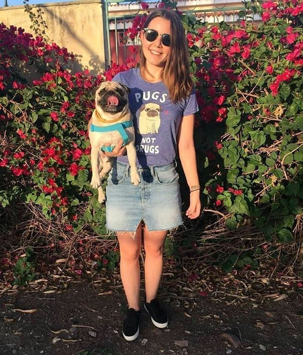 Thank you to cutie Bruno and his Pug mom